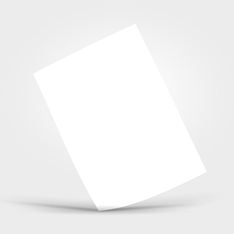 White (Blank) Adhesive Sheet