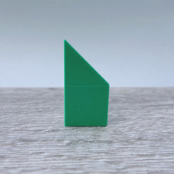 One-by-Two Green Left Angled Smooth Finish Floor or Roof Tile 5.05
