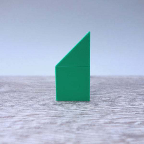 One-by-Two Green Right Angled Smooth Finish Floor Tile 5.06