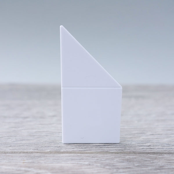 One-by-Two  White Left Angled Smooth Finish Floor or Roof Tile 5.05