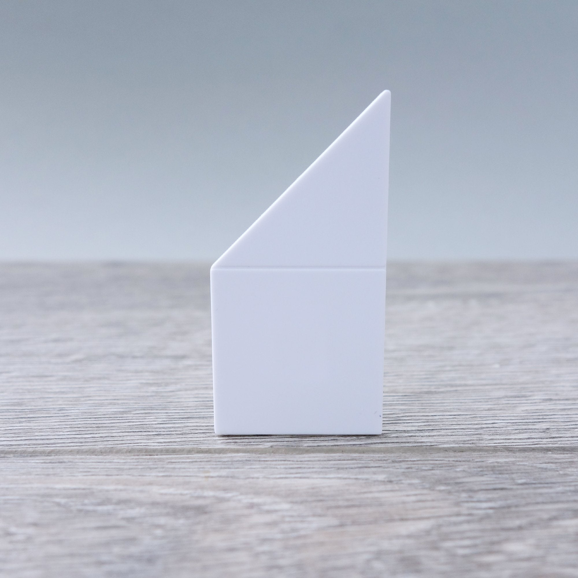 One-by-Two White Right Angled Smooth Finish Floor or Roof Tile 5.06