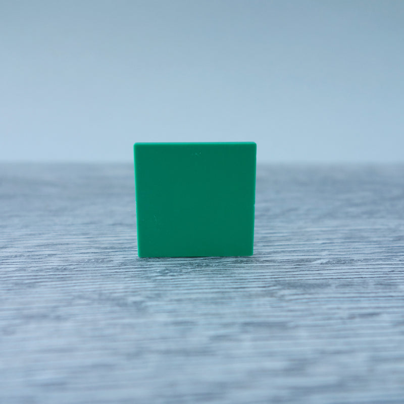 One-by-One Dark Green Smooth Floor or Roof Tile 5.06