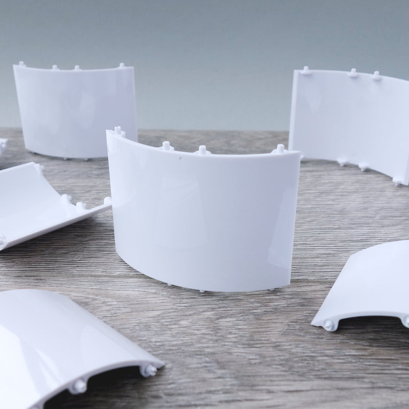 Curved White Wall Panel 2.10