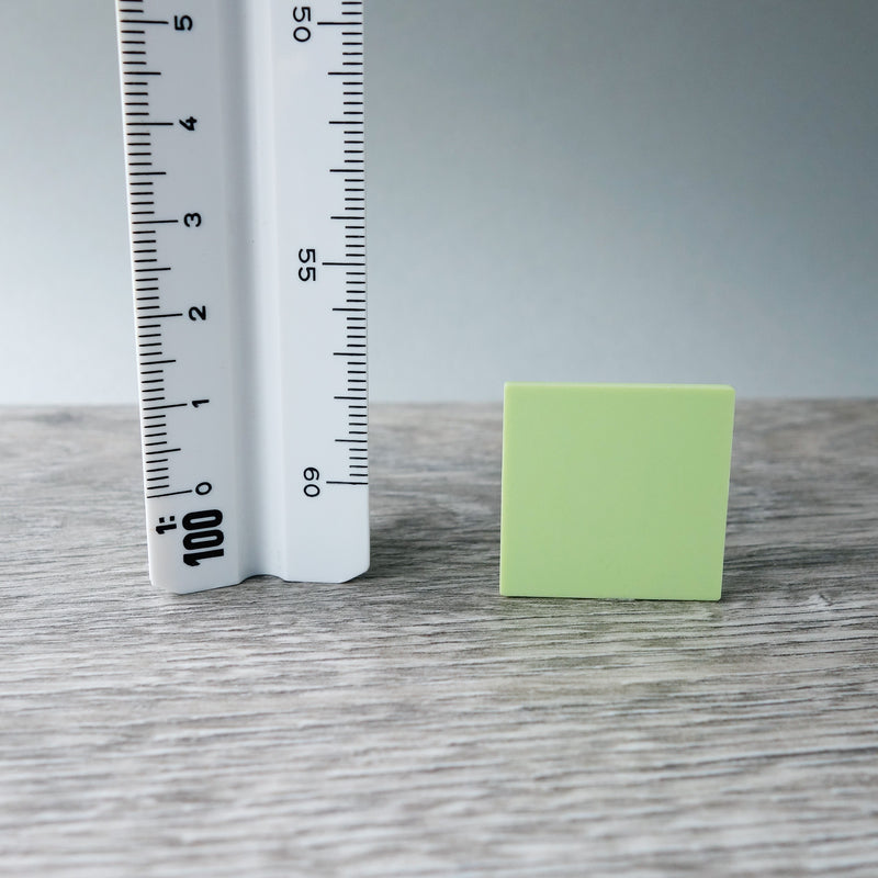 One-by-One Light Green Smooth Floor or Roof Tile 5.03