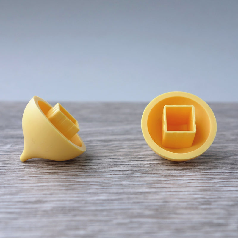 One-bye-One Yellow Dome Shaped Tile 6.11