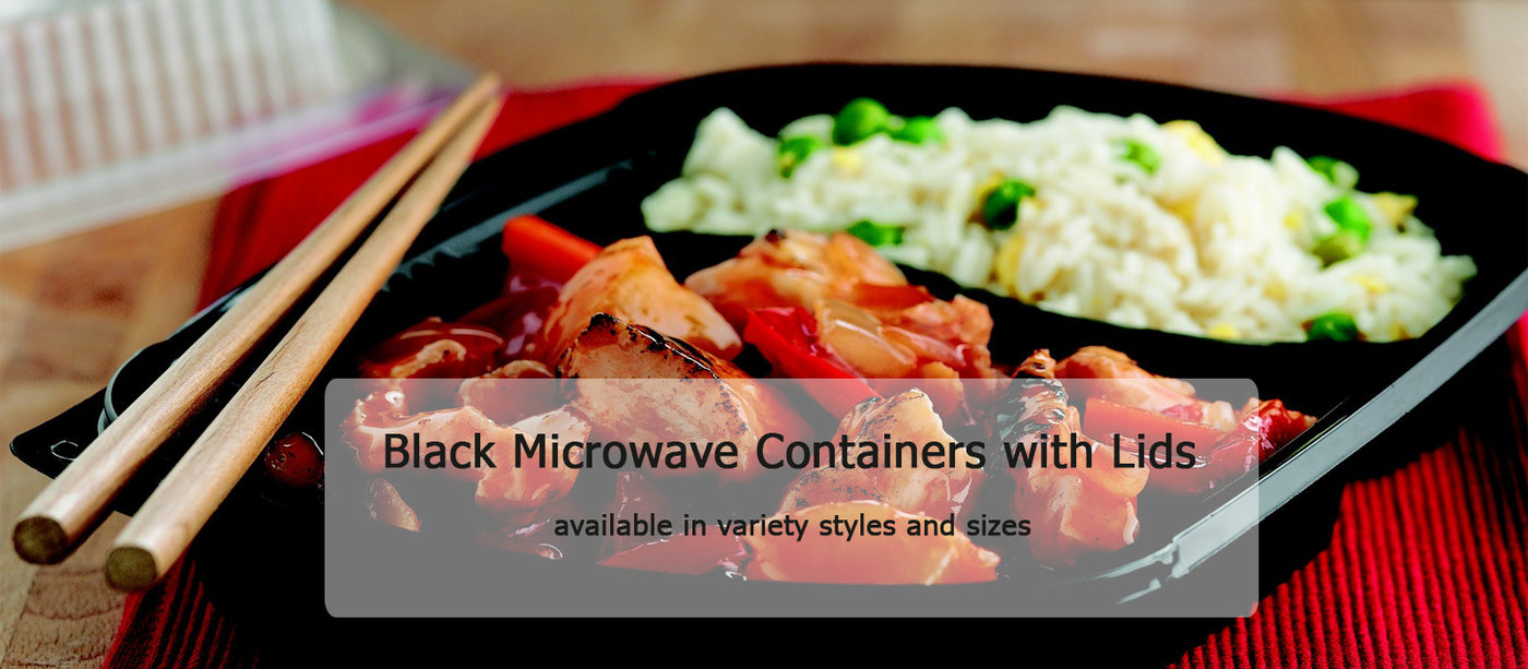Black Microwave Containers