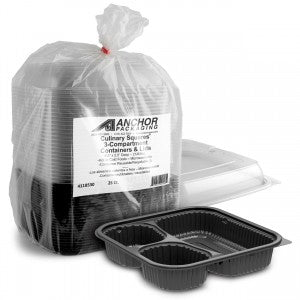 3 Compartment Takeaway Containers - GM Packaging (UK) Ltd