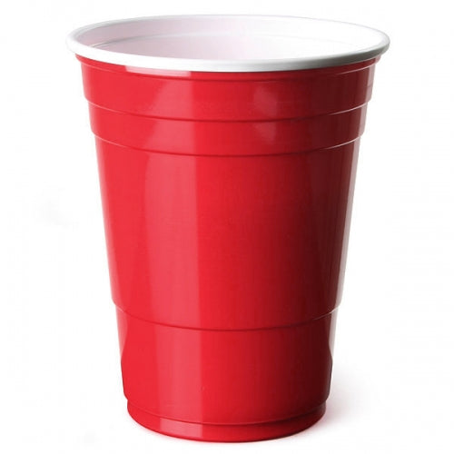 16oz Red Plastic Party Cups