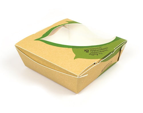 Small Brown Pasta/Salad Paper Box 'Seasons' - GM Packaging (UK) Ltd
