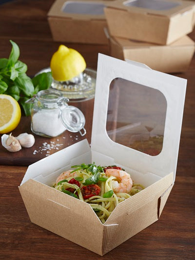 26.4oz carry-out box with window - GM Packaging (UK) Ltd