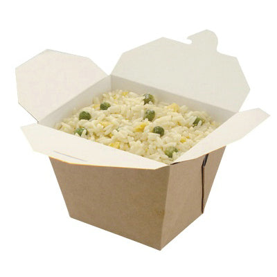 Square Kraft Food Containers - GM Packaging (UK) Ltd