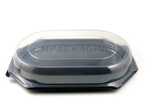 Clear Plastic Lid to fit Large Octagonal Catering Platters - GM Packaging (UK) Ltd