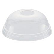 16/21 oz Dome Lid with Hole - GM Packaging (UK) Ltd