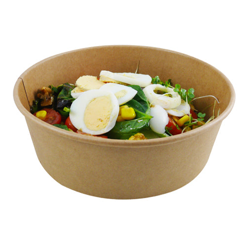 1000ml Kraft salad bowls/300s - GM Packaging (UK) Ltd