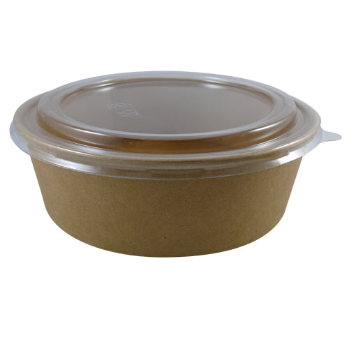 PET Dome Lid to fit 1000ml kraft bowls/300s - GM Packaging (UK) Ltd