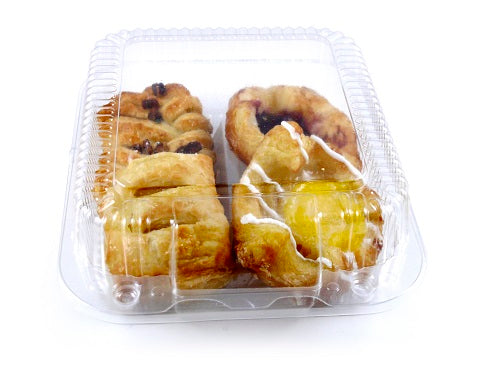 2 Cavity Hinged Cake Containers - GM Packaging (UK) Ltd