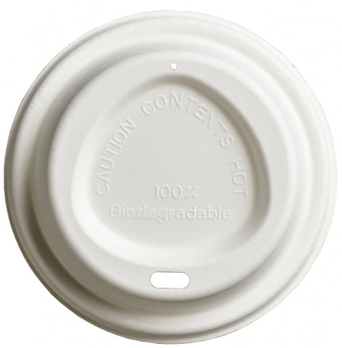 90mm compostable bagasse lids - GM Packaging UK Ltd