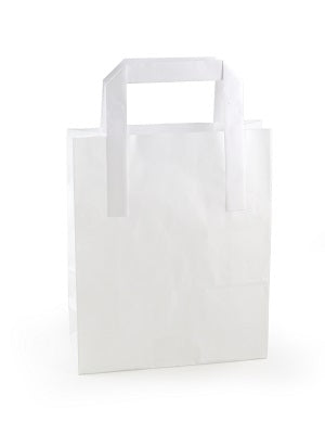 Large white paper takeaway bag - GM Packaging UK Ltd
