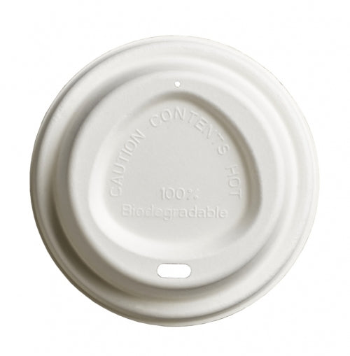 80mm Compostable Bagasse Lid - GM Packaging
