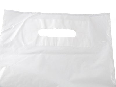 white patch handle plastic bag - GM Packaging UK Ltd