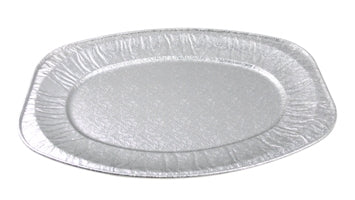 14 inch Oval Embossed Foil Platters - GM Packaging (UK) Ltd