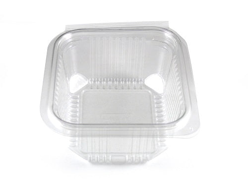 500cc Square Plastic Salad Container (Hinged Lid) - GM Packaging (UK) Ltd