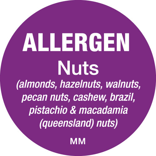 25mm Circle Purple Allergen Nuts Label - GM Packaging (UK) Ltd