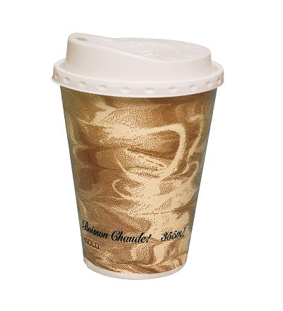 8oz Mistique Print Polystyrene Coffee Cups - GM Packaging (UK) Ltd