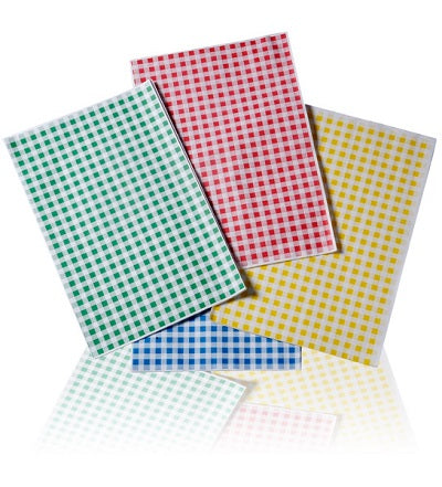 25 x 38cm Red Gingham Paper - GM Packaging (UK) Ltd