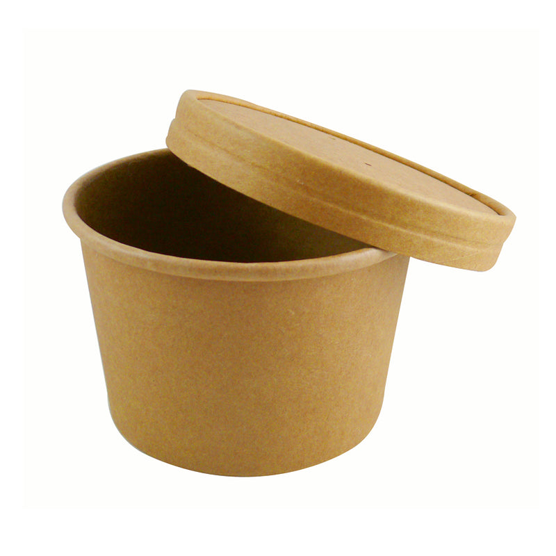 12oz Kraft Paper Soup Containers - GM Packaging (UK) Ltd