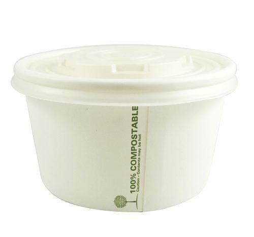 115mm Compostable Soup Lids fit 12oz and 16oz - GM Packaging (UK) Ltd