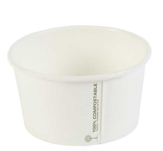 8oz//12oz//16oz White Pink Printed Paper Ice Cream Dessert Container Cups Tubs