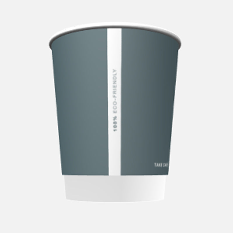 8oz reCups Grey coffee cups - GM Packaging UK Ltd