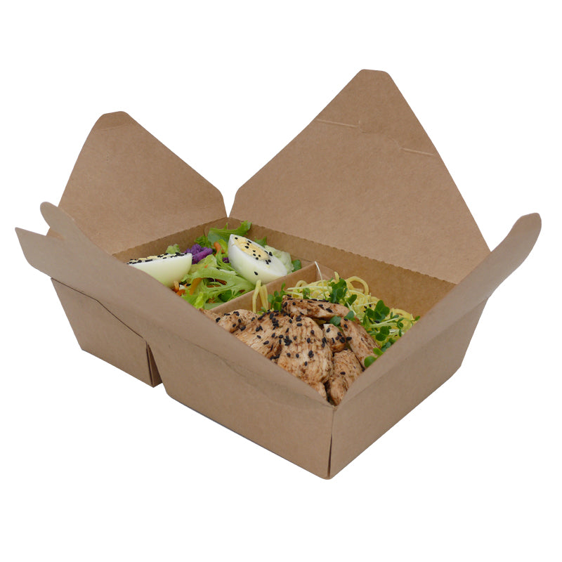2 compartments take away food box - GM Packaging UK Ltd