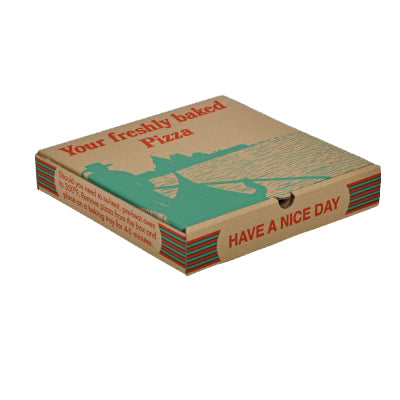 14 inch Printed Brown Pizza Boxes - GM Packaging (UK) Ltd