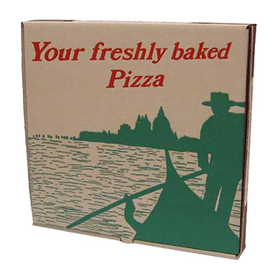 14 inch Printed Brown Pizza Boxes (Gondola) - GM Packaging (UK) Ltd