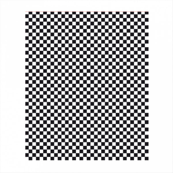 28x34cm Black Gingham Greaseproof Paper - GM Packaging (UK) Ltd