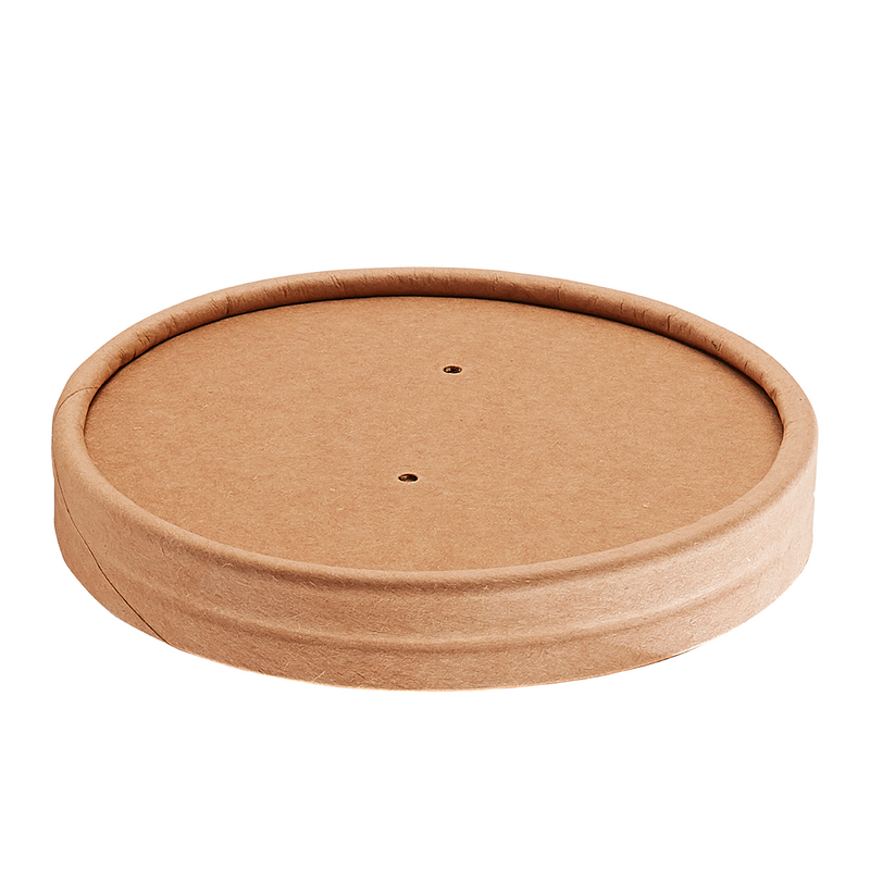 16oz Kraft Vented Paper Lid - GM Packaging (UK) Ltd