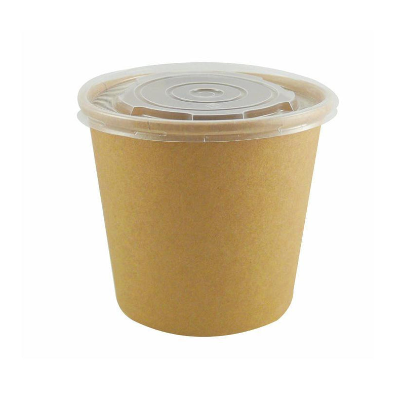 16oz Kraft Soup Containers/500s - GM Packaging (UK) Ltd