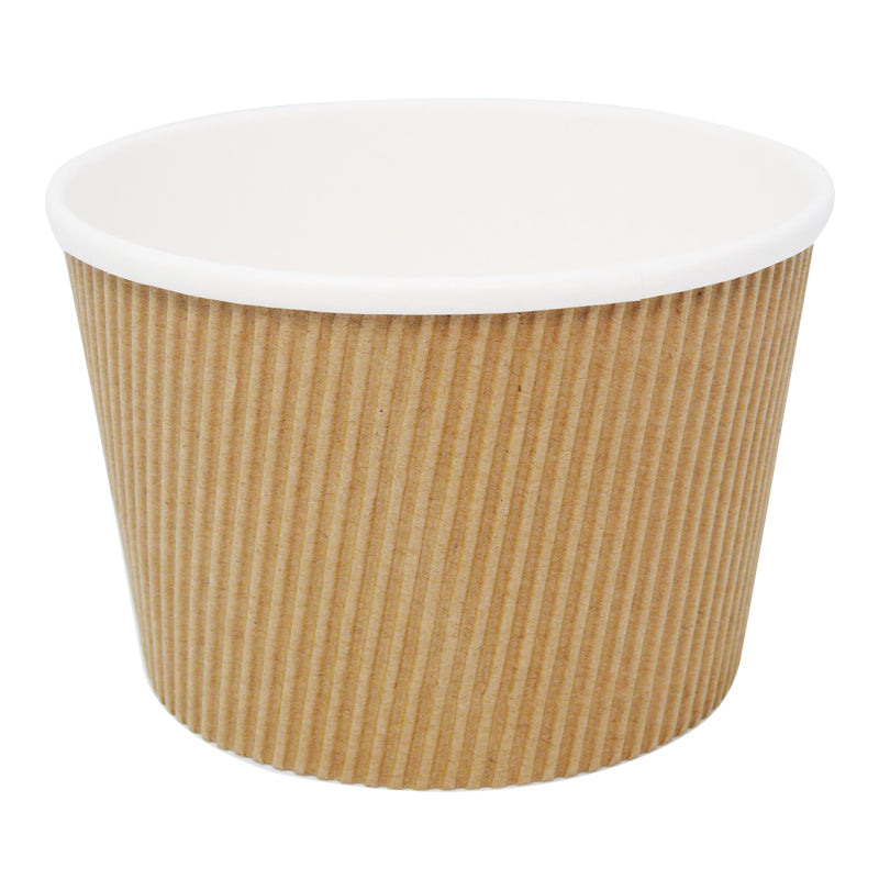 16oz Kraft Ripple Soup Cups - GM Packaging (UK) Ltd