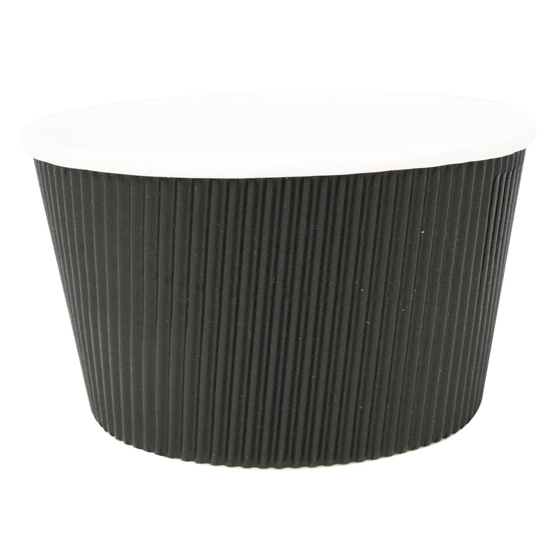 16oz Black Ripple Soup Cups