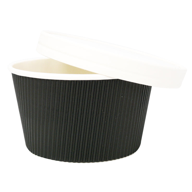 16oz Black Ripple Soup Cups - GM Packaging (UK) Ltd