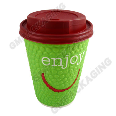 90mm Red Plastic Coffee Lids - GM Packaging (UK) Ltd