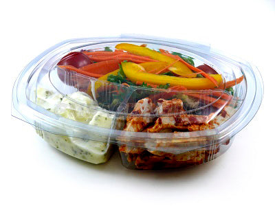 3 Compartment 'FRESCO' Salad Containers - GM Packaging (UK) Ltd