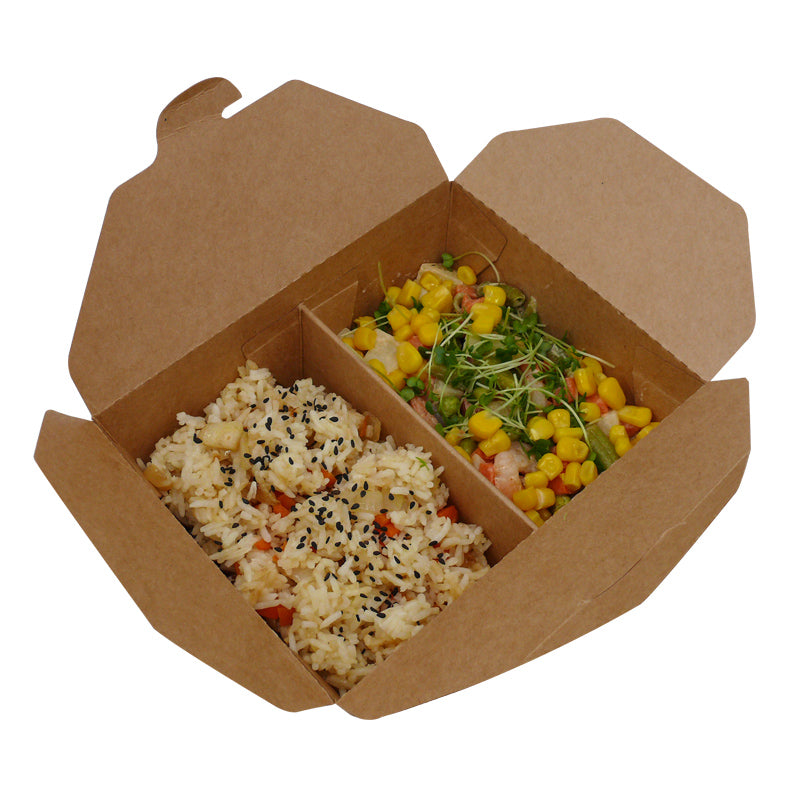 2 compartments take out food box - GM Packaging UK Ltd