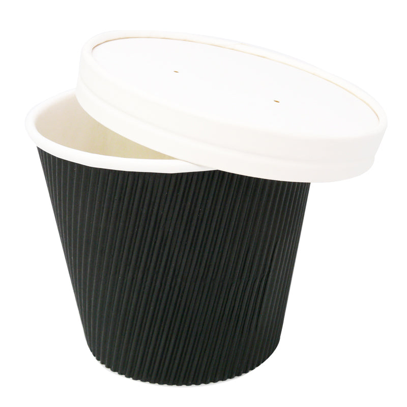 White Paper Vented Soup Lid - GM Packaging (UK) Ltd