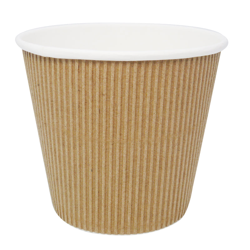 19oz Kraft Ripple Soup Cups - GM Packaging (UK) Ltd