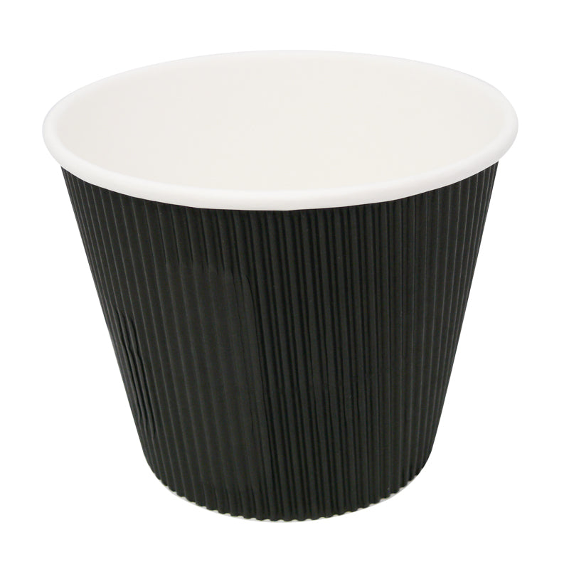 19oz black ripple soup cups - GM Packaging UK Ltd