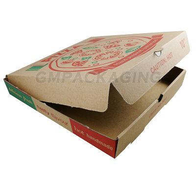 12 inch Printed Brown Pizza Boxes - GM Packaging (UK) Ltd
