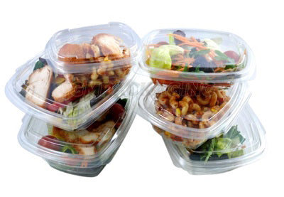 650cc FRESCO Hinged Oval Salad Container - GM Packaging (UK) Ltd
